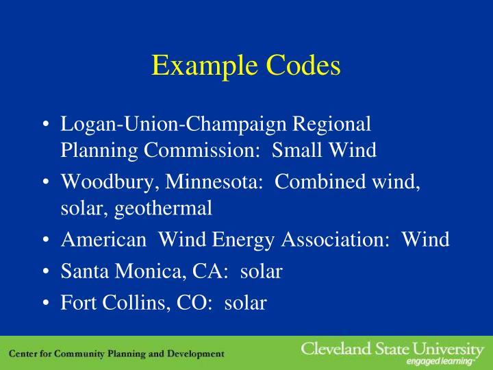 Example Codes