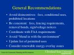 general recommendations