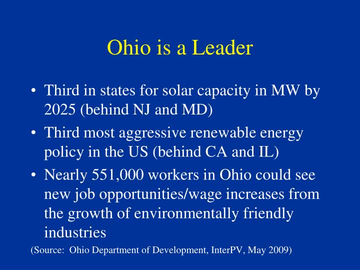 Ohio is a Leader