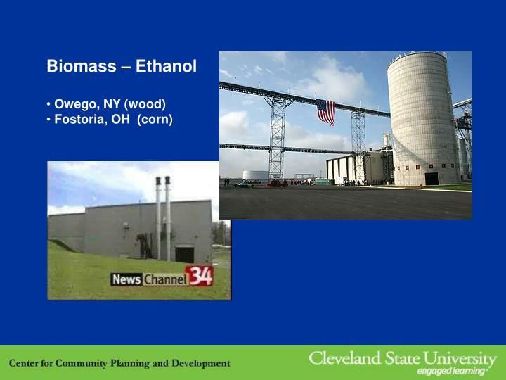 Biomass – Ethanol