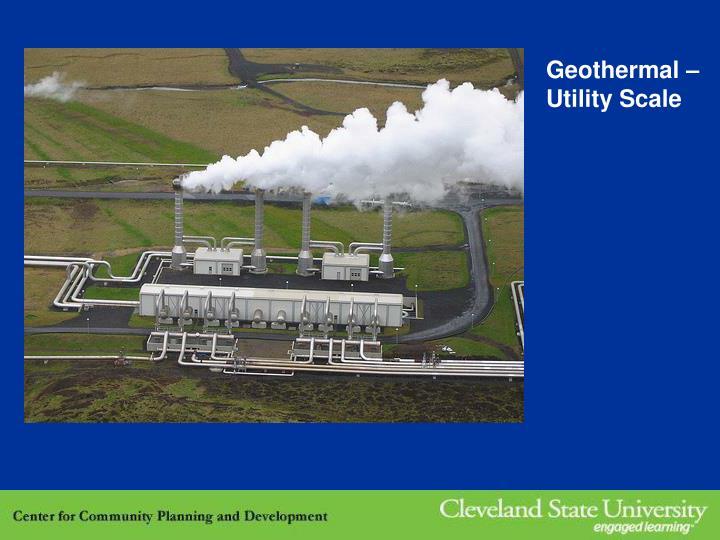 Geothermal –