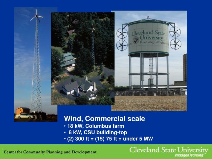 Wind, Commercial scale