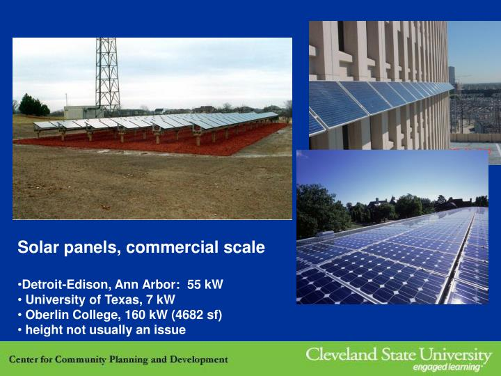 Solar panels, commercial scale
