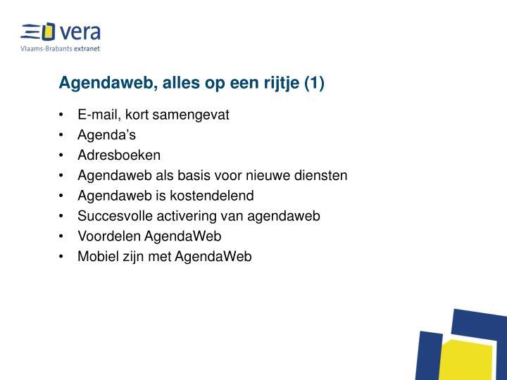 Agendaweb, alles op een rijtje (1)