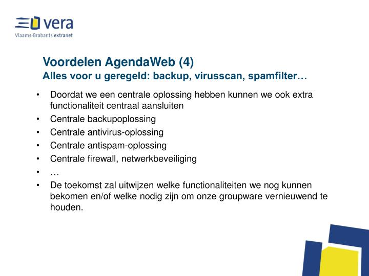 Voordelen AgendaWeb