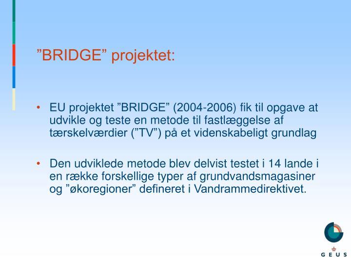 """BRIDGE"" projektet:"