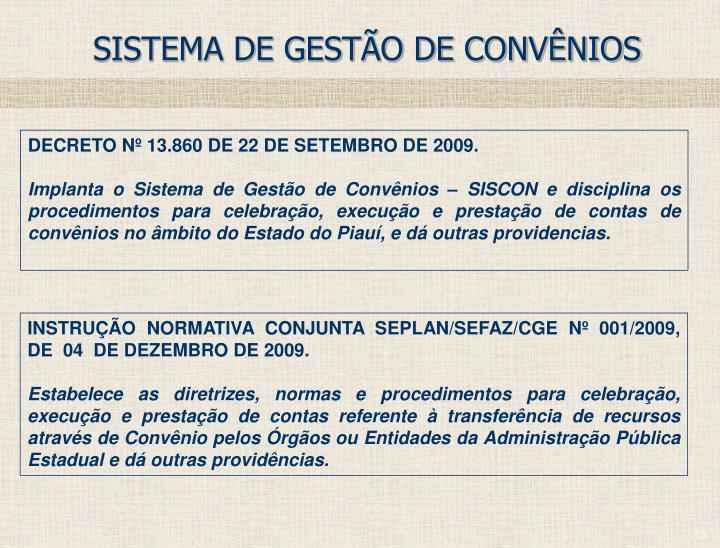 SISTEMA DE GESTÃO DE CONVÊNIOS