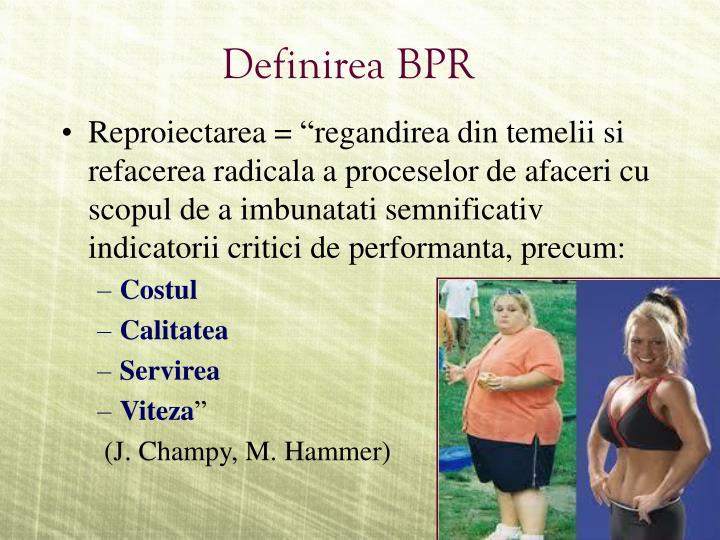 Definirea BPR