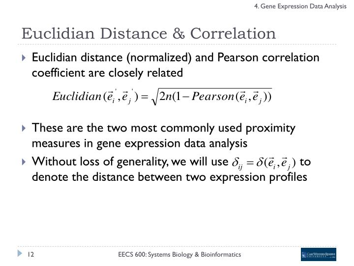 Euclidian Distance & Correlation
