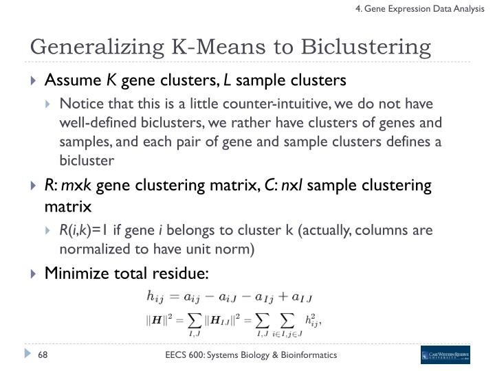 Generalizing K-Means to Biclustering