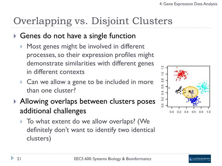Overlapping vs. Disjoint Clusters