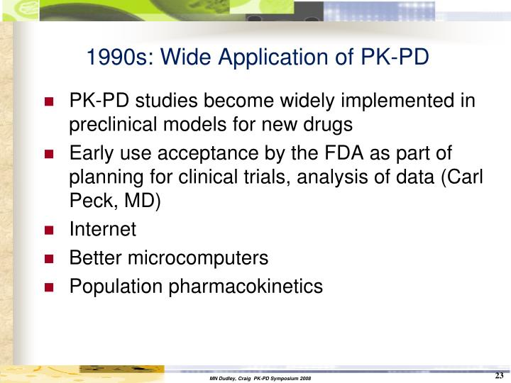 1990s: Wide Application of PK-PD