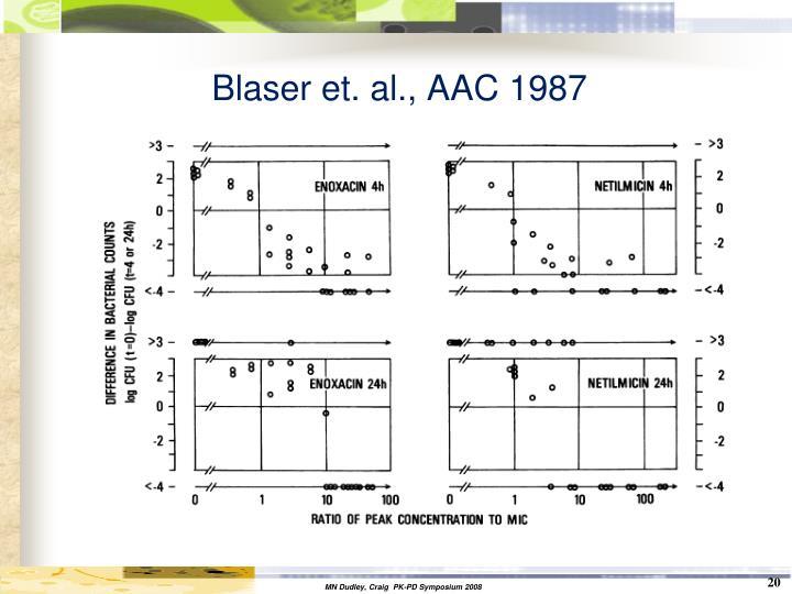 Blaser et. al., AAC 1987