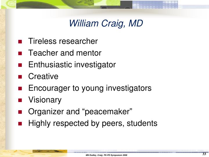 William Craig, MD