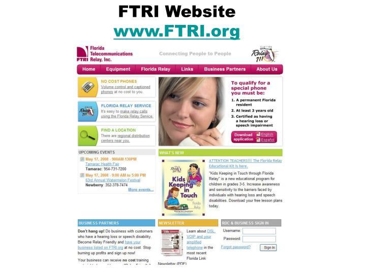 FTRI Website