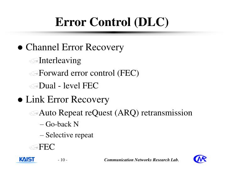 Error Control (DLC)
