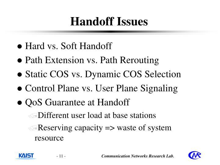 Handoff Issues