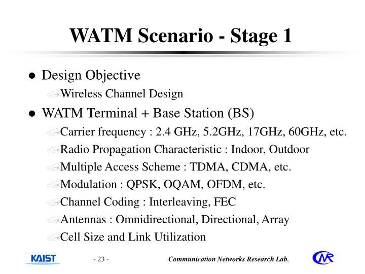 WATM Scenario - Stage 1