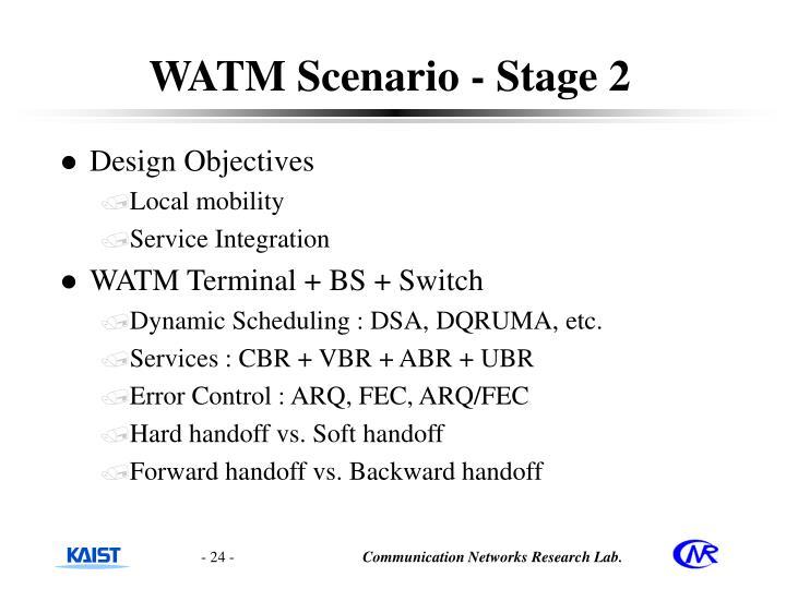WATM Scenario - Stage 2
