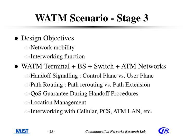WATM Scenario - Stage 3