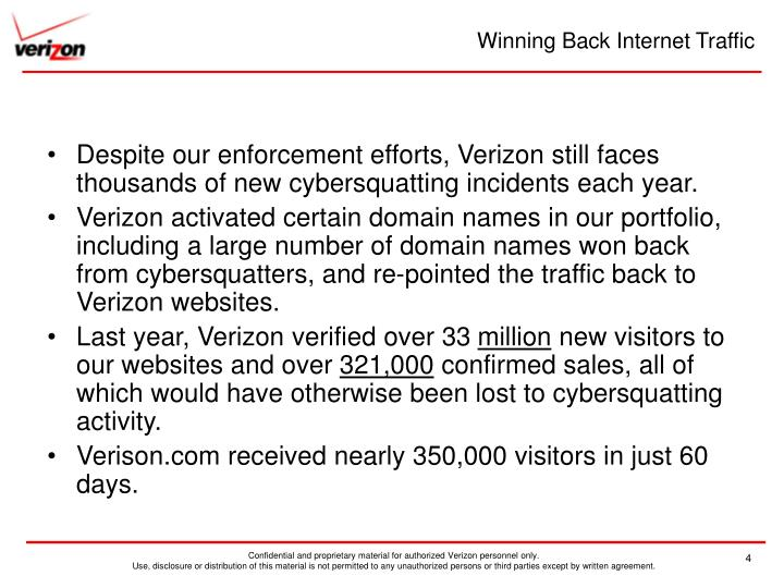 Winning Back Internet Traffic