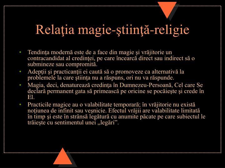 Relaţia magie-ştiinţă-religie