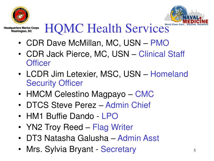 HQMC Health Services