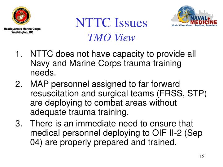 NTTC Issues