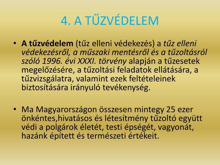 4. A TZVDELEM