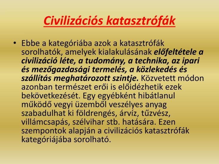Civilizációs katasztrófák