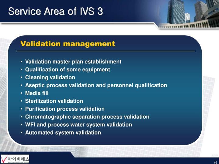Service Area of IVS 3