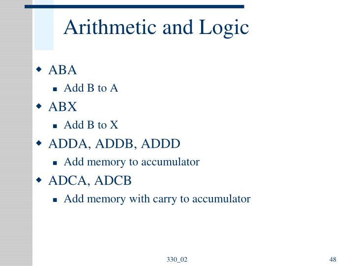 Arithmetic and Logic
