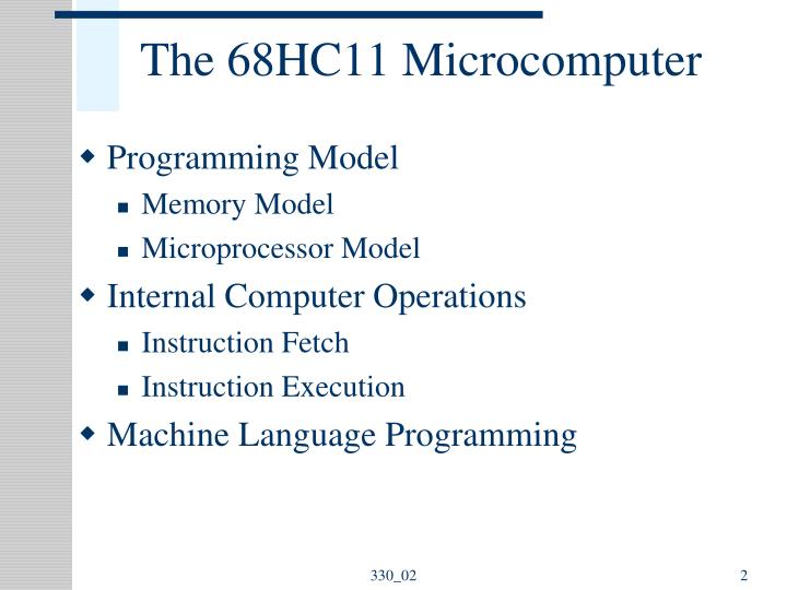 The 68hc11 microcomputer