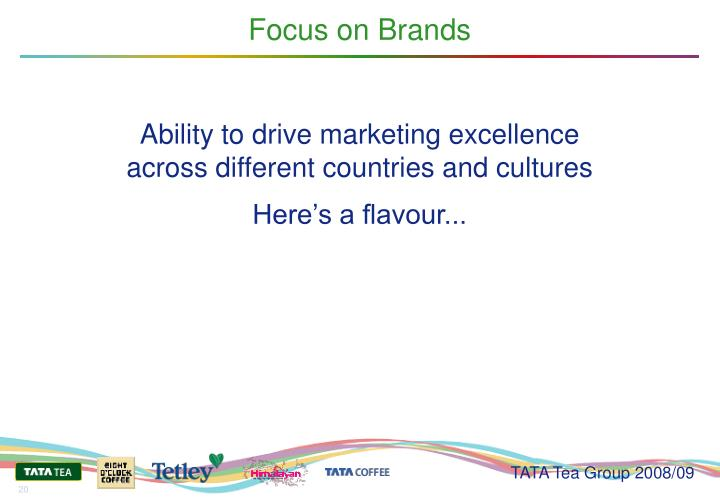 Focus on Brands