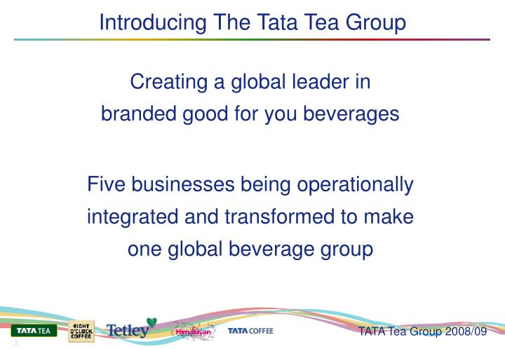 Introducing the tata tea group