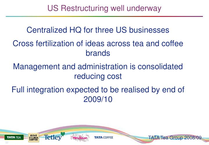 US Restructuring well underway
