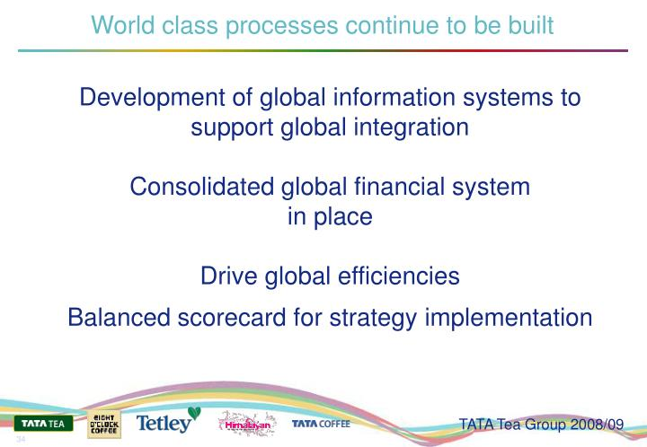 World class processes continue to be built