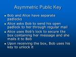 asymmetric public key