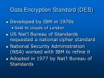 data encryption standard des