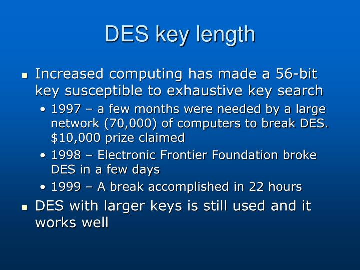 DES key length