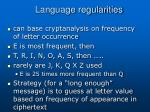 language regularities