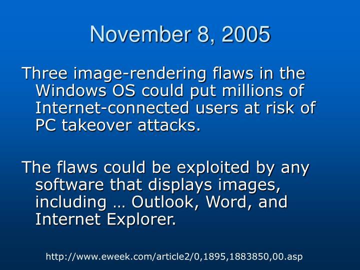 November 8, 2005