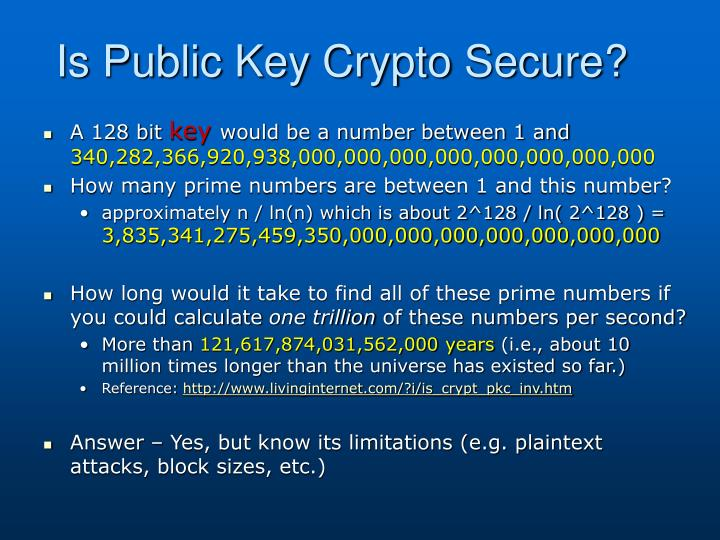 Is Public Key Crypto Secure?