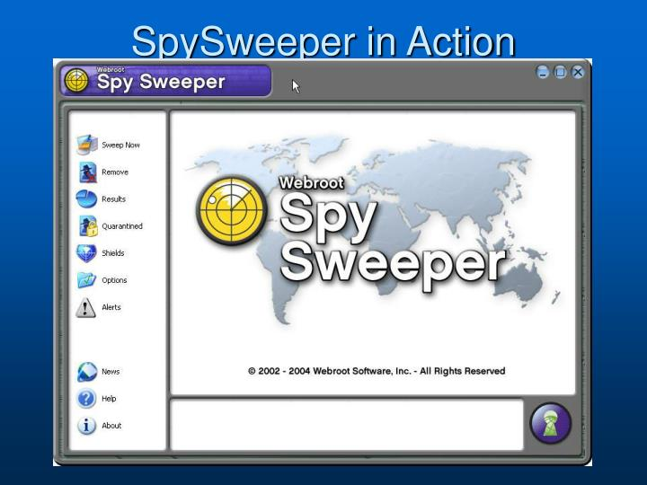 SpySweeper in Action