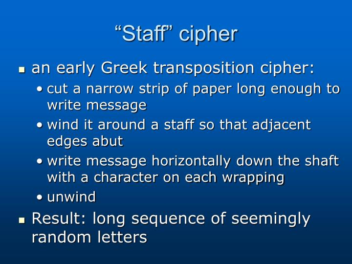 """Staff"" cipher"