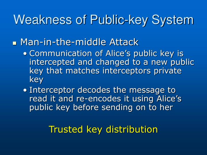 Weakness of Public-key System