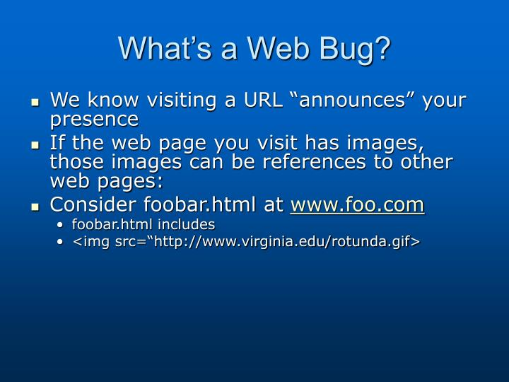 What's a Web Bug?