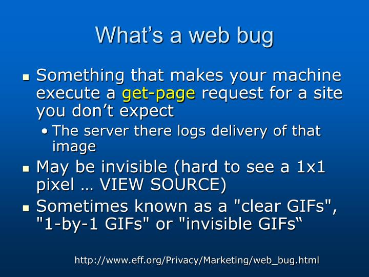What's a web bug