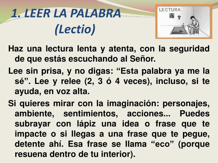 1.LEER LA PALABRA