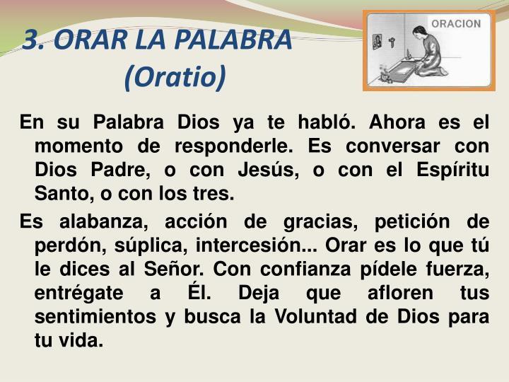 3.ORAR LA PALABRA